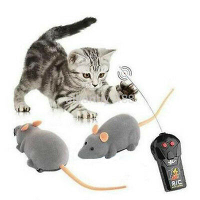 Simulation Remote Control RC Rat Mouse Mice Cat Dog Pet Toy Funny Novelty Gift S