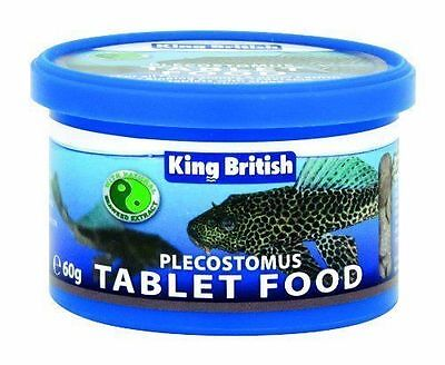 King British Plecostomus Tablet Food - 60G - For Plecs & Other Algae Eaters