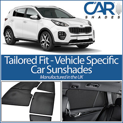 Kia Sportage 5dr 2016 On UV CAR SHADE WINDOW SUN BLINDS PRIVACY GLASS TINT BLACK