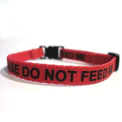 Please Do Not Feed Me Collar Red for Pet Cat Dog NEW