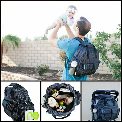 Heavy Duty Baby Diaper Bag Travel Backpack Handbag Large Capacity Fits Stroller