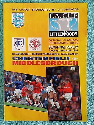 1997 - FA CUP SEMI FINAL REPLAY PROGRAMME - CHESTERFIELD v MIDDLESBROUGH