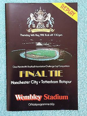 1981 - FA CUP FINAL REPLAY PROGRAMME - MANCHESTER CITY v TOTTENHAM