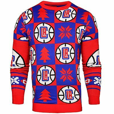 Adult 2XL LA Clippers 2016 Patches Ugly Jumper H338