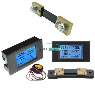 AC 80-260V/DC 6.5~100V 20A 50A 100A Panel Display Volt Amp Power Watt Meter LCD