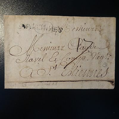 Marque Postale Lettre Cover Valenne 1769 L7