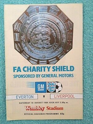 1984 - CHARITY SHIELD PROGRAMME - EVERTON v LIVERPOOL - V.G CONDITION