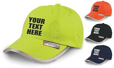 Personalised Hi Vis Baseball Cap Embroidered Custom Printed Workwear Hat Unisex