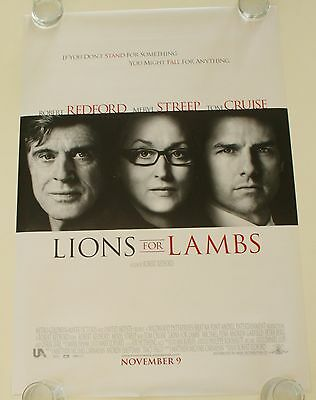 Lions For Lambs Ds Movie Poster One Sheet New Authentic