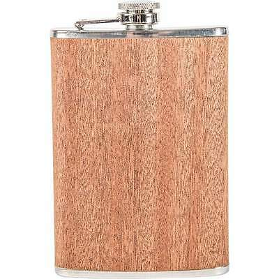 Bar Tools & Accessories Kitchen, Dining & Bar Collection Here 9oz Real Sapele Wood Wrap Flask Screw Cap Top Hip Pocket Liquor Whiskey Alcohol