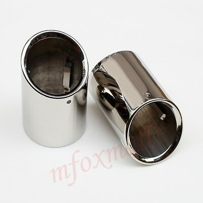 2PCS Fit For Cadillac CT6 2016 2017 Tail Pipe End Tip Muffler Exhaust Silencer