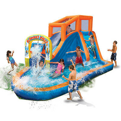 Banzai Plummet Falls Adventure Inflatable WATER SLIDE Pool Bounce House YARD NEW