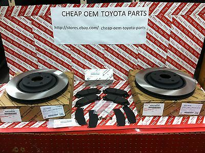 2008-2018 Toyota Highlander Oem Genuine Front Brake Rotors Pad Kit & Shim Kit