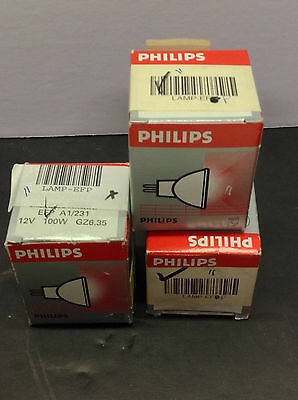 3-Philips Projection Lamp Efp A1/231 12V 100W Gzb.35 (Pl-B11)