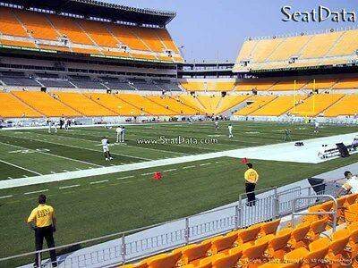 (2) Steelers vs Falcons Pre-Season Tickets Lower Level Sidelines 5th Row!!