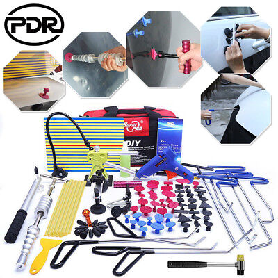 PDR Dent Puller Lifter Paintless Dent Removal Repair Push Rods Spring Steel Tool