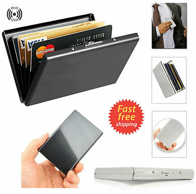 Compact Front Pocket Slim Credit Card Holder Thin RFID Block Wallet Money Cash
