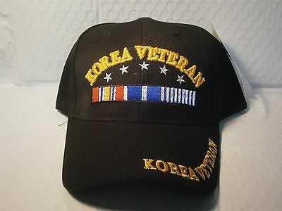 Korea Veteran Hat Baseball Style Black NWT One Size Fits Most Adjustable