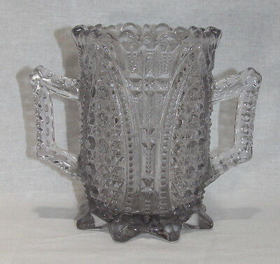 RARE 19th C. GLASS DOUBLE-HANDLED SPOONER
