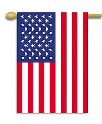 "American Flag 28"" x 40"" Sleeved Old Glory Silk Screened Pole Banner made in USA"