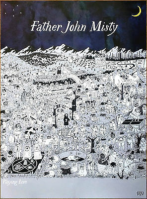 FATHER JOHN MISTY Pure Comedy 2017 Ltd Ed HUGE RARE Poster +FREE Indie Poster!