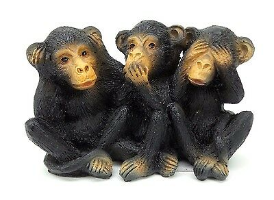 See Hear Speak No Evil Monkey Trio Wise Monkeys Collectible Figurine