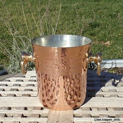 Mauviel Hammered Copper Champagne Ice Bucket Made In France
