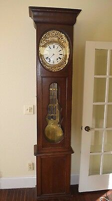 Stained Oak Morbier Longcase Clock - France Circa 1830-1840 w/ Valuation