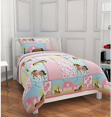 NEW! Mainstays KIDS Country Meadows HORSES Bed In A Bag Bedding SET (TWIN SIZE)