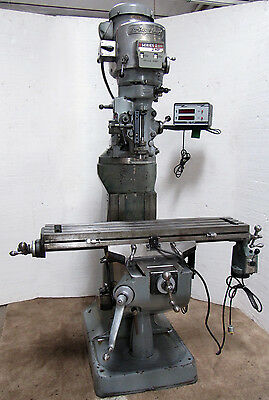 "BRIDGEPORT 2HP Variable Speed Mill with 9""x42"" Table, DRO, & Powerfeed"