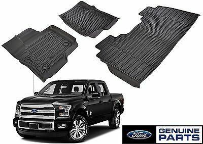 Genuine Ford HL3Z-1613300-AA All Weather Floor Mats 2015-2018 F-150 CREW CAB New