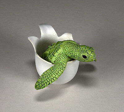 """TIPSY TURTLE "" Mobile Rocking Sculpture New Direct by JOHN PERRY Green shade"