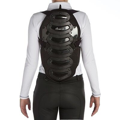 Fouganza Safety Adult And Children's Horse Riding Back Body Protector - Black