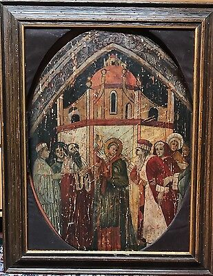 Russian Icon of Christ, Antique Painting on Wood