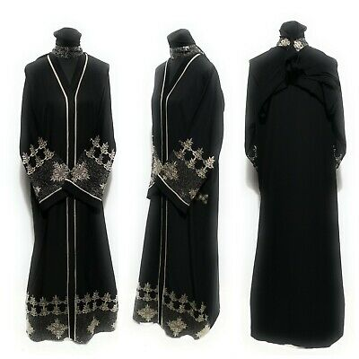 Women open front abaya.dress . saudi abaya japanese Neda/linen.sizes 52.54.56.58