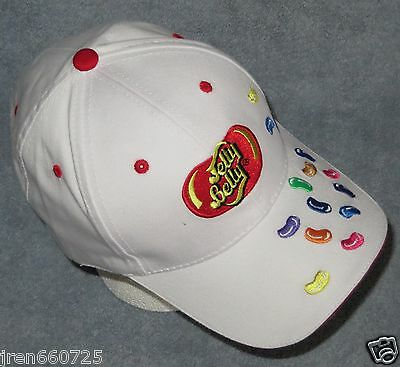 New Jelly Belly Beans Embroidered White Baseball Hat Cap