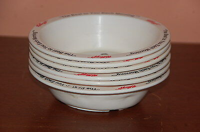 Vintage Kellogg's Plastic Cereal Bowls c. 1985~Set of 6~4 Different Characters