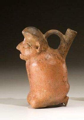 Ancient Peru Vicus Ceramic Figure  Pre-Columbian Pottery Bound Prisoner Antiques