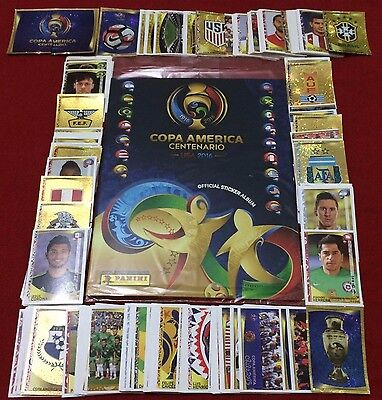 Official PANINI Sealed Album COPA AMERICA CENTENARIO 2016 Complete Set Stickers