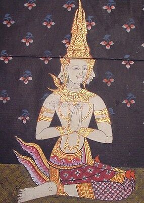 Original Antique Thailand  Manuscript Painting from the 19th Century