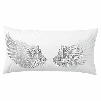 "Pottery Barn Teen Junk Gypsy Pillow, Sparkle Wings 12"" wide x 24"" long, NEW"