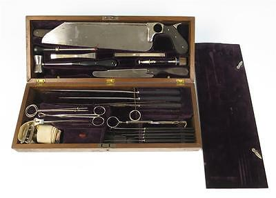 Antique Cased Surgical Tools Set Amputation Surgery Civil War Medical Doctor Dr