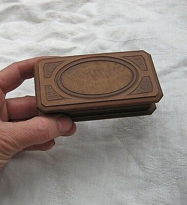 Victorian Belle Epoque Era Travel Jewelry Box Carved Wood Trinkets Hinged