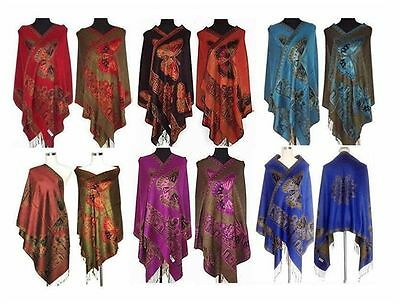 Hot 2017 Style Women's Double-Side Butterfly Pashmina Shawl/Scarf Wrap