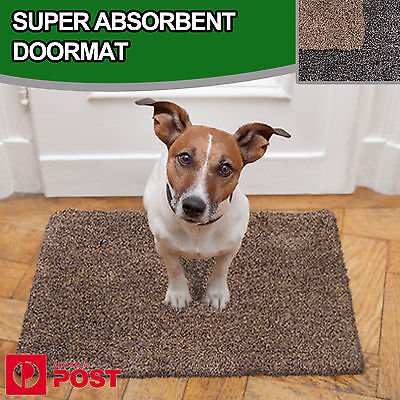 Super Absorbent Absorbs Mud & Water Microfibre Non-Slip Doormat Clean Step Mat