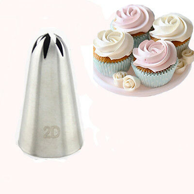 #2D Large Size Rose Flower Cake Decorating Icing Tip Cupcake Nozzles Decoration