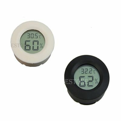 New Digital Cigar Humidor Hygrometer Thermometer Round Face