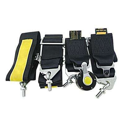 """2 Pcs 4 Point Racing Safety Harness Camlock 3"""" Inch Strap Seat Belt Black"""