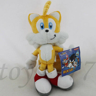 "Sonic the Hedgehog Character Miles Tails Prower 9"" Yellow Stuffed Animal Toy"