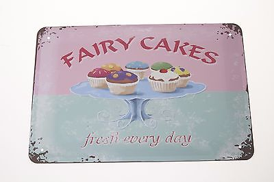 Vintage Bake Cake Sign Metal Plate Tin Poster Bakery Plaque Wall Home Decor Art